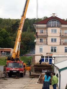 Výstavba nové haly prodejny elektro - příprava terénu
