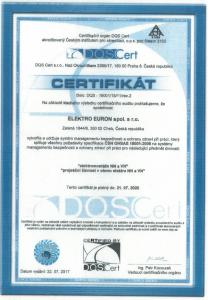 Certifkát 18001:2008