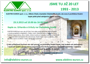 Otevření hradní kaple s Elektro Euron